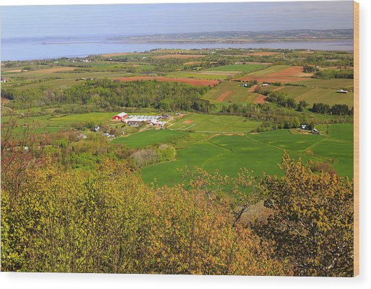 Annapolis Valley Nova Scotia Wood Print