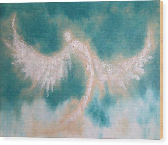 Anne's Angel Wood Print