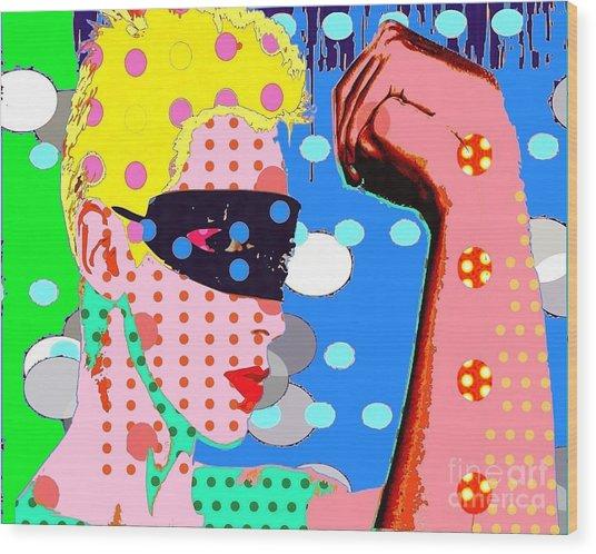 Annie Lennox Wood Print by Ricky Sencion