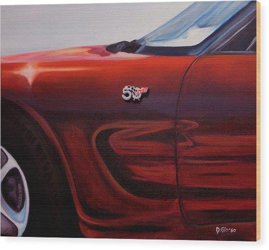 Anniversary Edition Corvette Wood Print