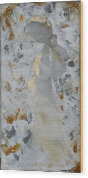 Anniversary - She Wood Print by Hanna Fluk