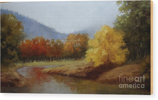 Anns Creek Bed Wood Print