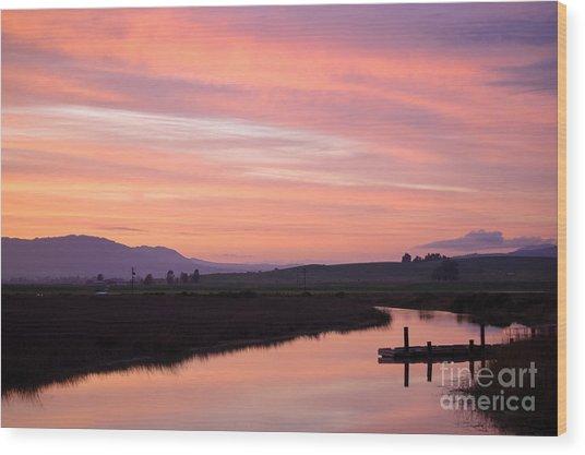 Another Carneros Sunset Wood Print by Jordan Rusin