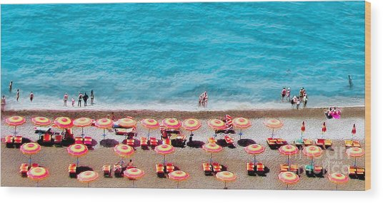 Another Day In Paradise-positano-digitized Wood Print