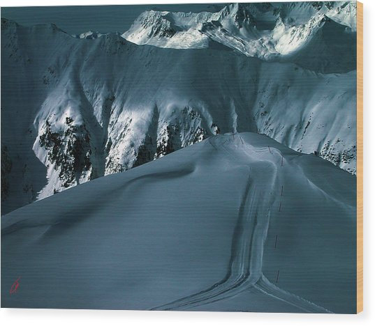 Wood Print featuring the photograph Another Late Day In The Mountains  by Colette V Hera  Guggenheim