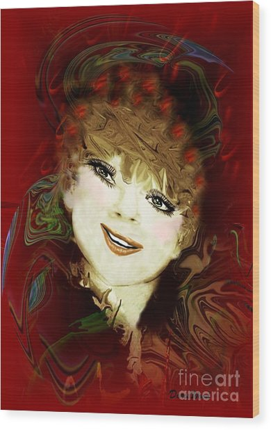 Another Pretty Face Wood Print by Doris Wood