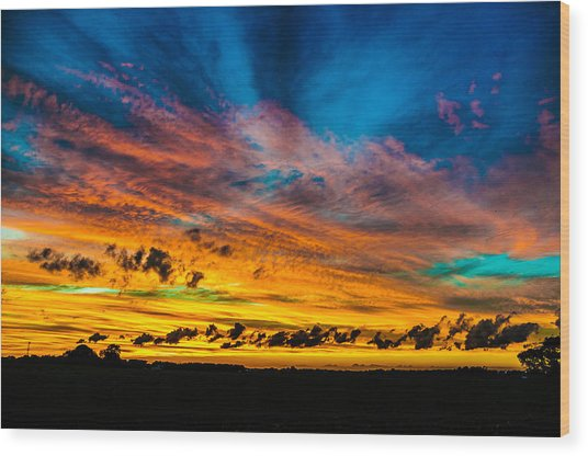 Another Sunset Wood Print