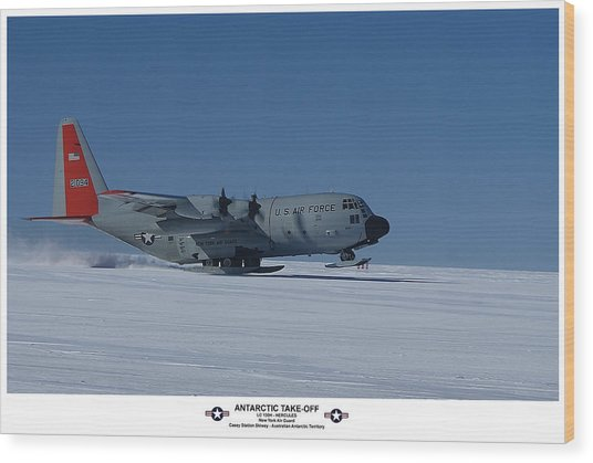 Antarctic Take-off Wood Print by David Barringhaus