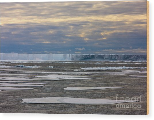 Antarctica Ross Ice Shelf Edge  Wood Print