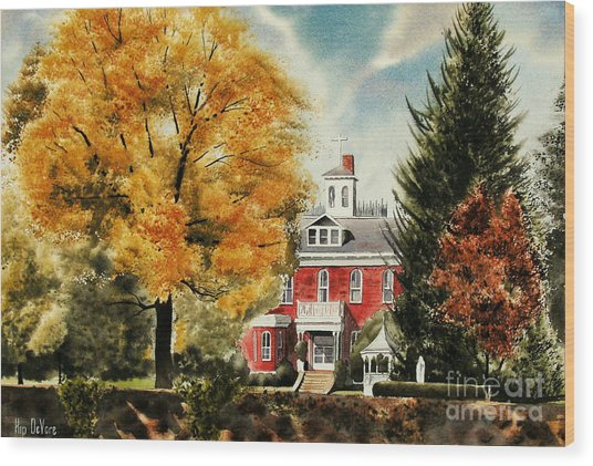 Antebellum Autumn II Wood Print