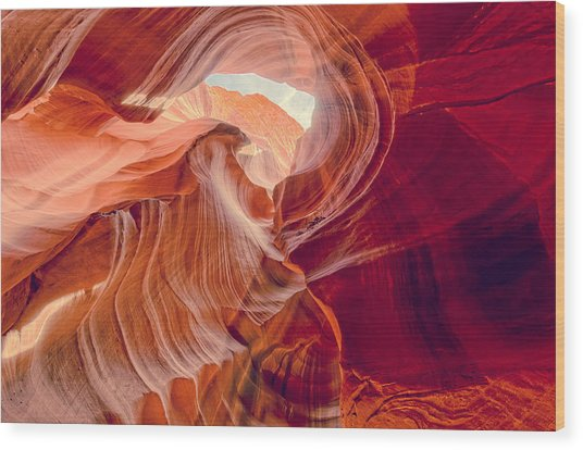 Antelope Canyon Navajo Nation Page Arizona Weeping Warrior Wood Print