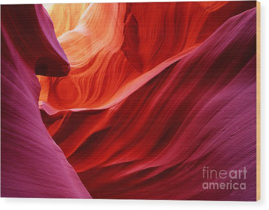 Antelope Lower Canyon Wood Print