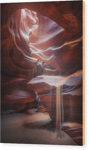 Antelope Sandfall Wood Print by Clara Gamito