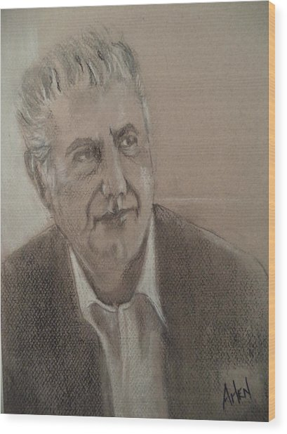 Anthony Bourdain Wood Print