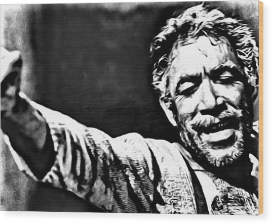 Anthony Quinn As Zorba Wood Print