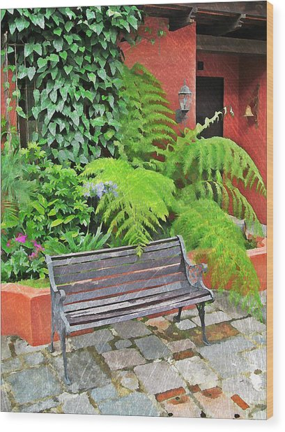 Antigua Bench Wood Print