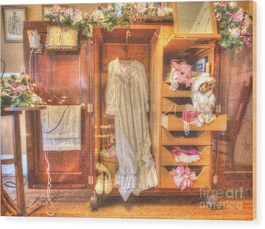 Antique Armoire Wood Print
