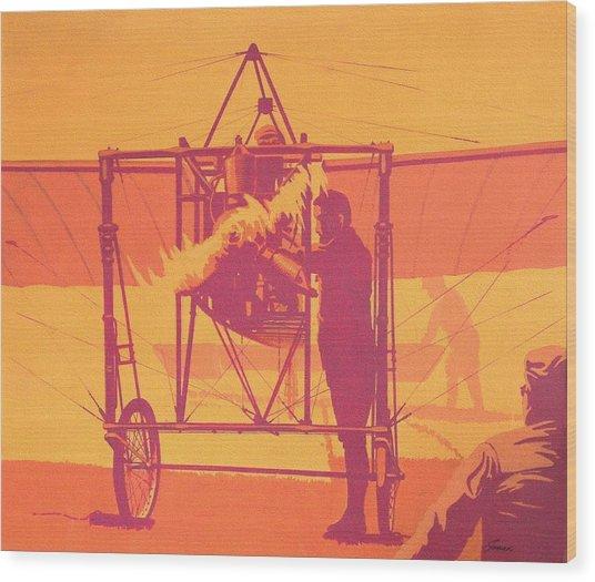 Antique Bleriot Airplane  Wood Print by John Samsen
