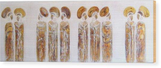 Antique Copper Zulu Ladies - Original Artwork Wood Print