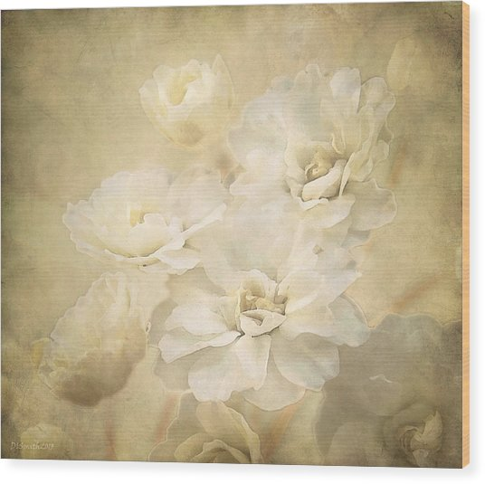 Antique Floral Wood Print