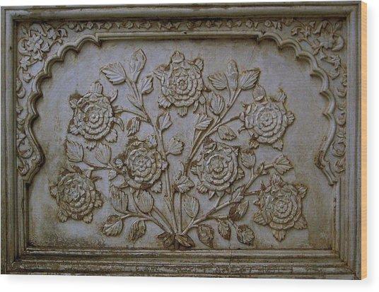 Antique Flowers Wood Print