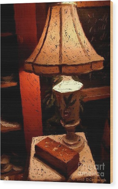 Antique Lamp Wood Print