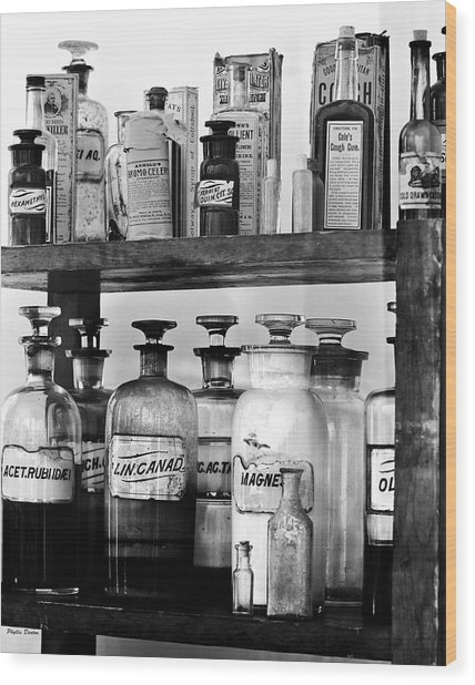 Antique Pharmacy Wood Print