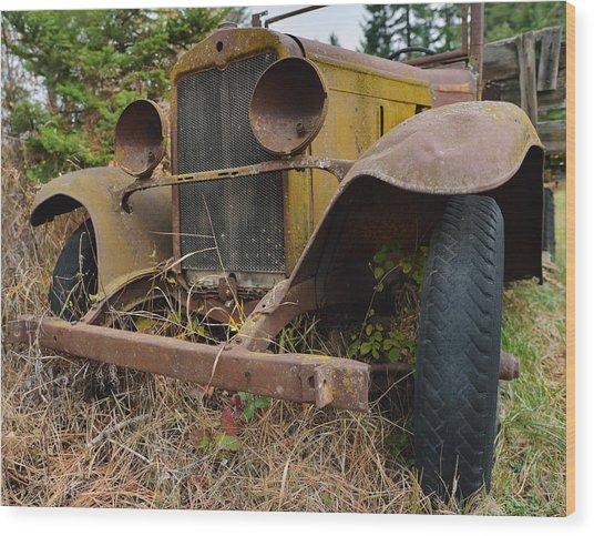 Antique Pickup Truck Wood Print