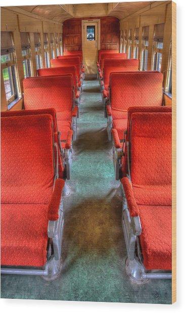 Antique Railroad Coach Car Wood Print
