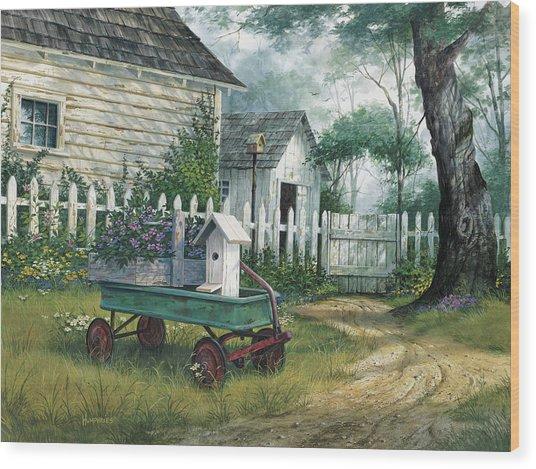 Antique Wagon Wood Print