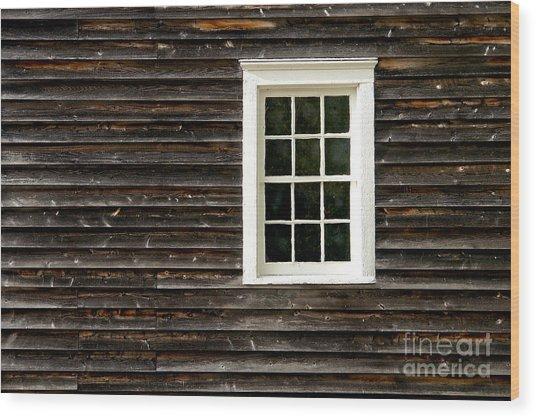 Antique Window Wood Print