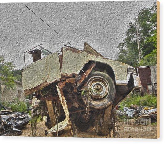 Antiques Broken Wood Print