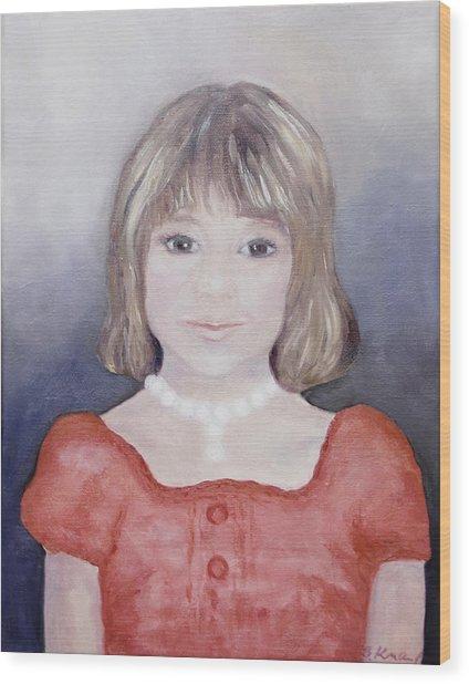 Antonia Portrait Wood Print