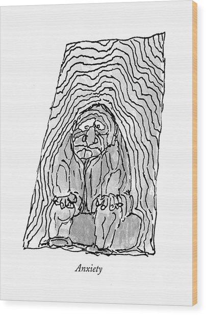 Anxiety Wood Print