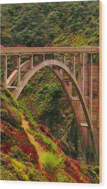 Anyone Seen The Bridge Wood Print by Sharon Costa