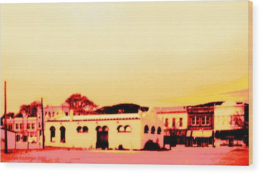 Anytown New Mexico Wood Print