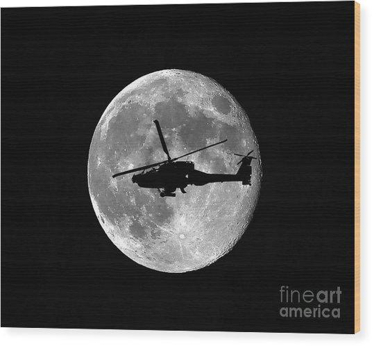Apache Moon Wood Print