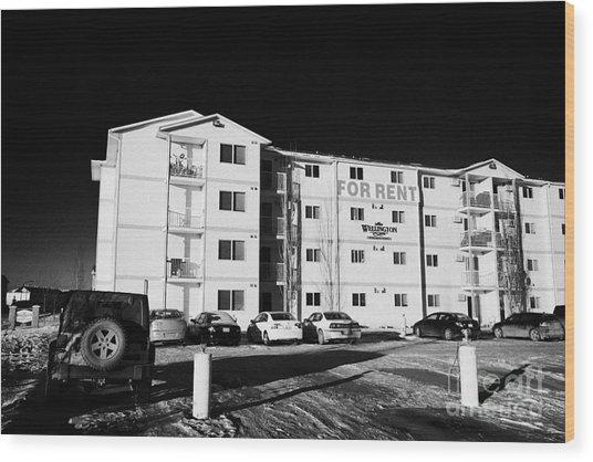 apartments duplexes for rent during winter Saskatoon Saskatchewan Canada Wood Print