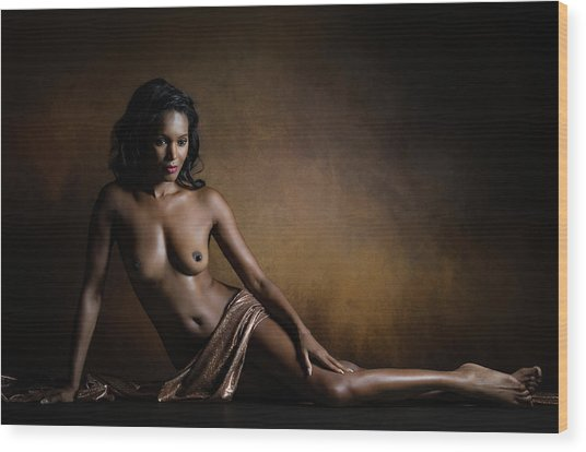 Aphrodite Melaina Wood Print by Luc Stalmans