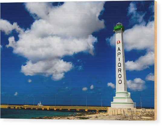 Apigroo Lighthouse Wood Print