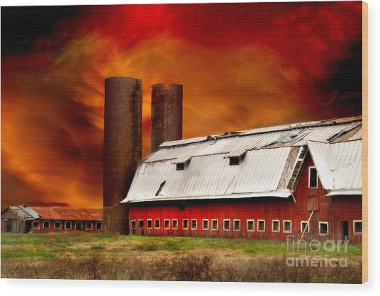 Wood Print featuring the photograph Apocalypse At Rolling Fork by T Lowry Wilson