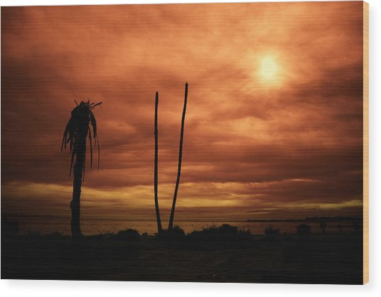Apocalypse Nowish Wood Print