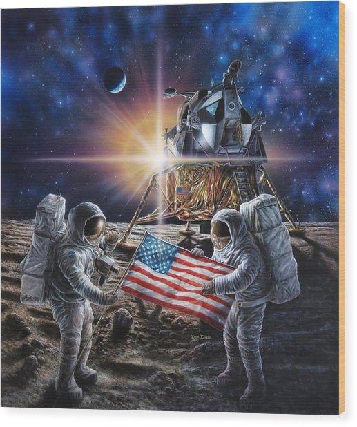 Apollo 11 Wood Print