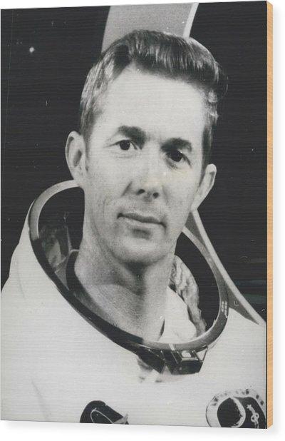 Apollo 14 Astronaut Stuart Roosa - Apollo 14 Command Module Wood Print by Retro Images Archive
