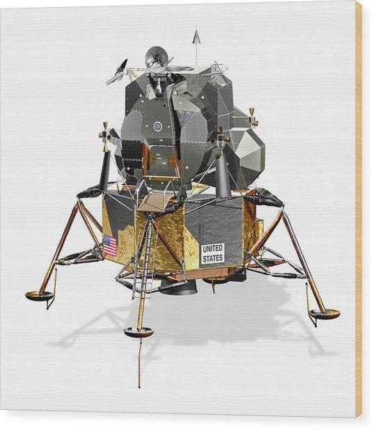 Apollo Lunar Module Wood Print by Carlos Clarivan/science Photo Library