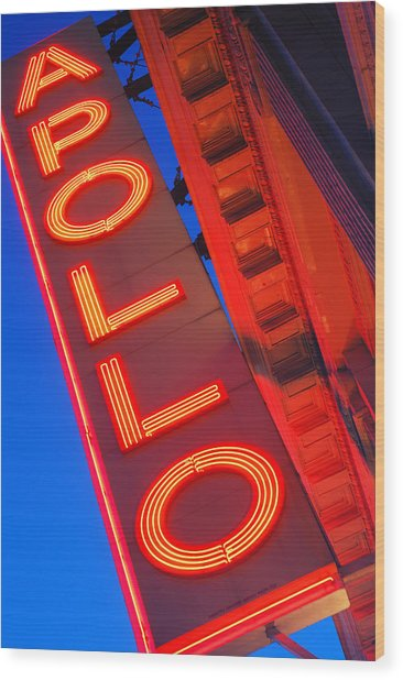 Apollo Nights Wood Print