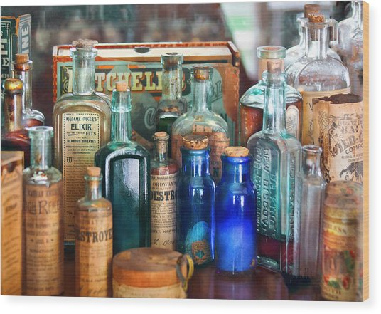 Apothecary - Remedies For The Fits Wood Print