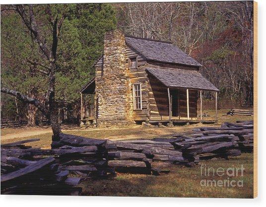 Appalachian Homestead Wood Print