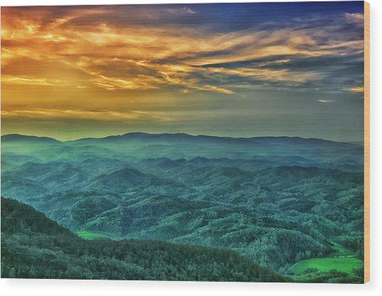 Appalachian Mountain Sunset Wood Print