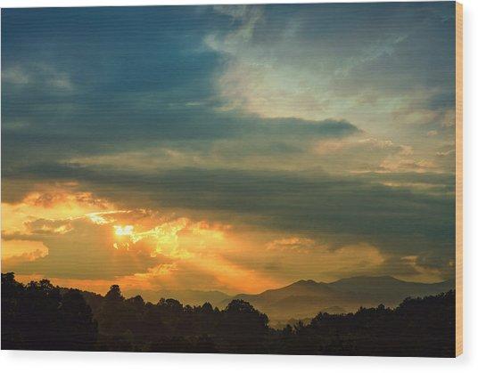 Appalachian Sunset Wood Print by William Schmid